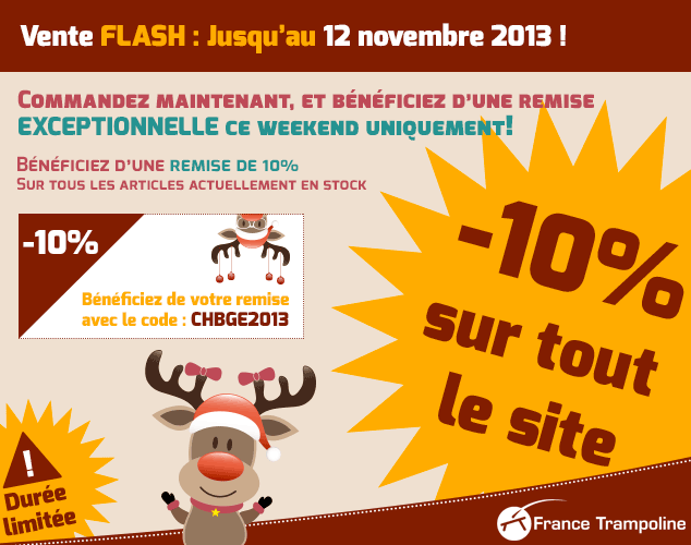 Vente Flash France Trampoline